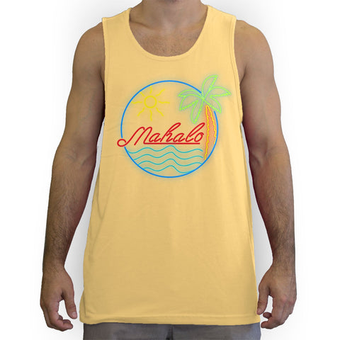 Function - Mahalo Neon Lights Men's Fashion Tank Top Yellow