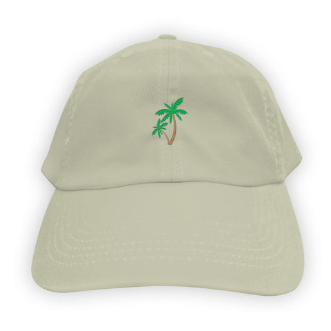Function   Palm Tree Men's Dad Hat Stone
