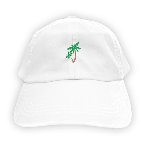 Function   Palm Tree Men's Dad Hat White