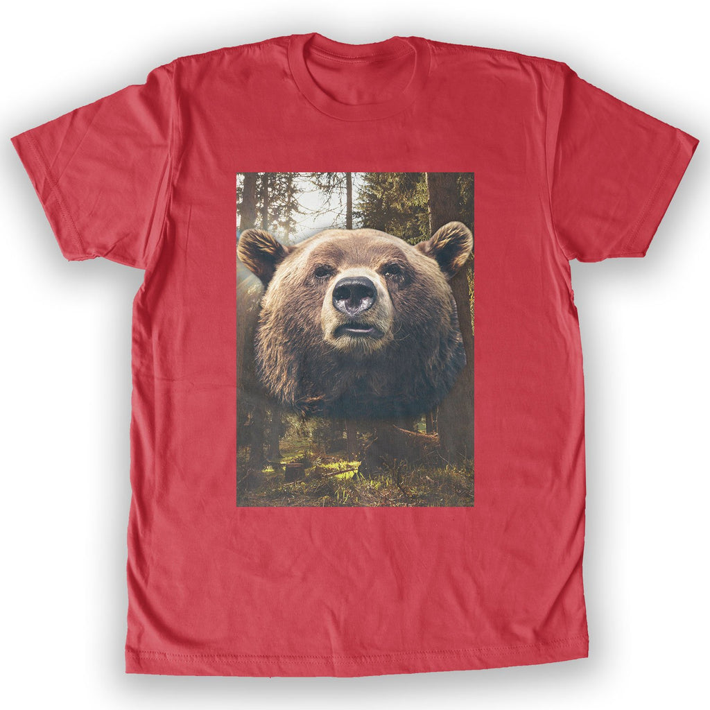 Function - Brown Bear Face Men's Fashion T-Shirt