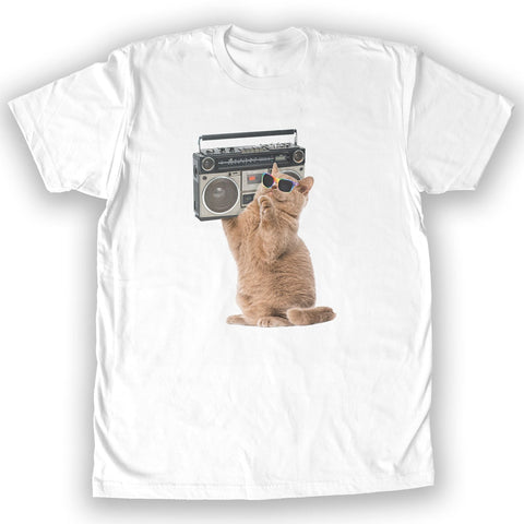 Function - Cat Boombox Men's Fashion T-Shirt