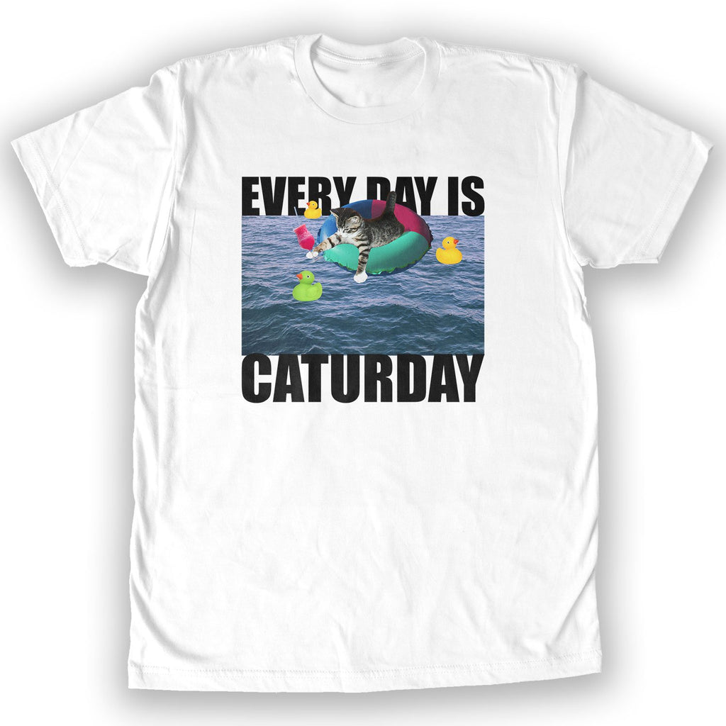 Function - Everyday is Caturday Men's Fashion T-Shirt