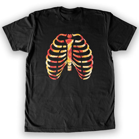 Function - Skeleton Costume Pizza Bones Men's Fashion T-Shirt
