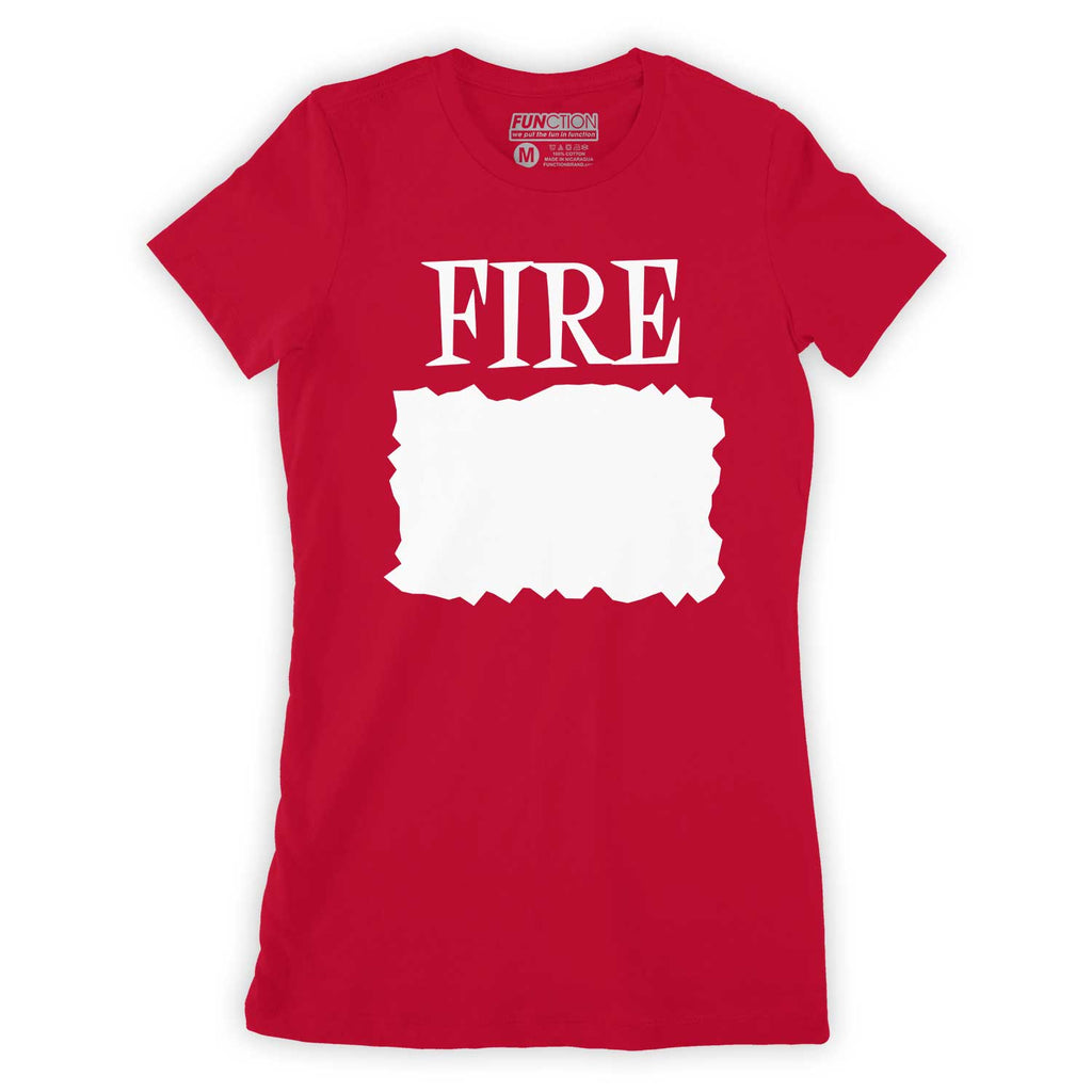 Function - Custom DIY Write In Your Own Text Fire Sauce Women's Costume T-Shirt