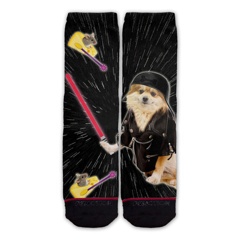 Function - Galaxy Dark Dog Fashion Socks