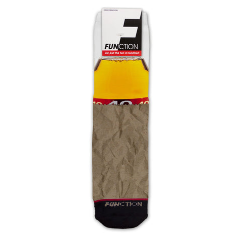 Function - 40 oz Paper Bag Beer Fashion Socks