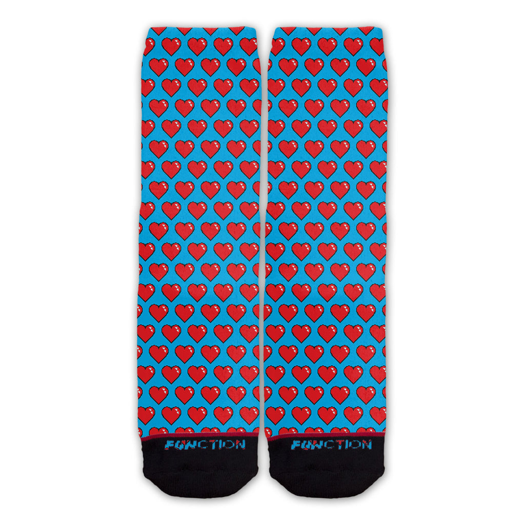 Function - 8 Bit Hearts Pattern Fashion Socks