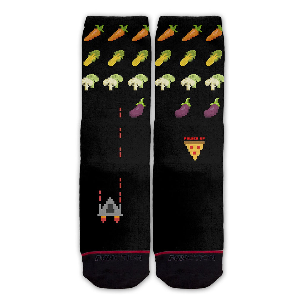 Function - 8 Bit Spaceship Video Game Fashion Socks