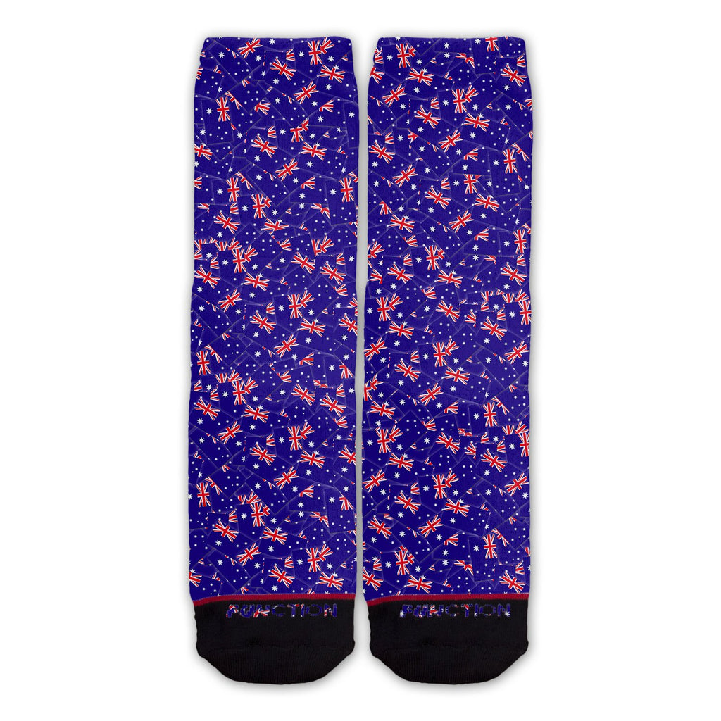 Function - Australian Flag Repeating Pattern Fashion Sock