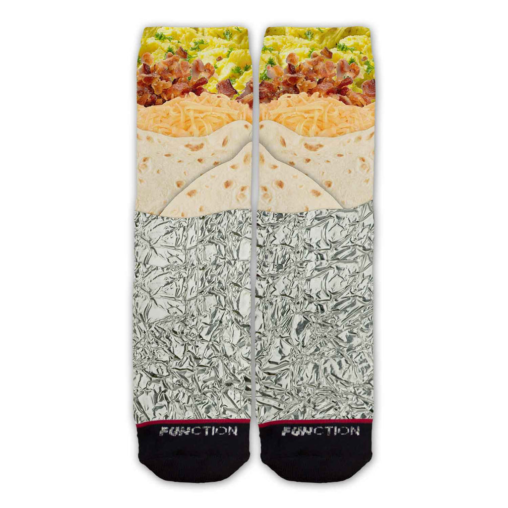 Function - Breakfast Burrito Food Fashion Socks