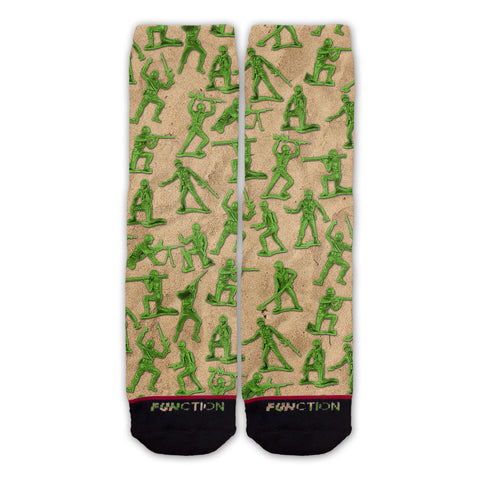 Function - Green Army Men Pattern Fashion Sock