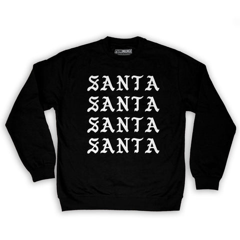 Function -  I Feel Like Santa Repeating Men's Fashion Crew Neck Sweatshirt Black