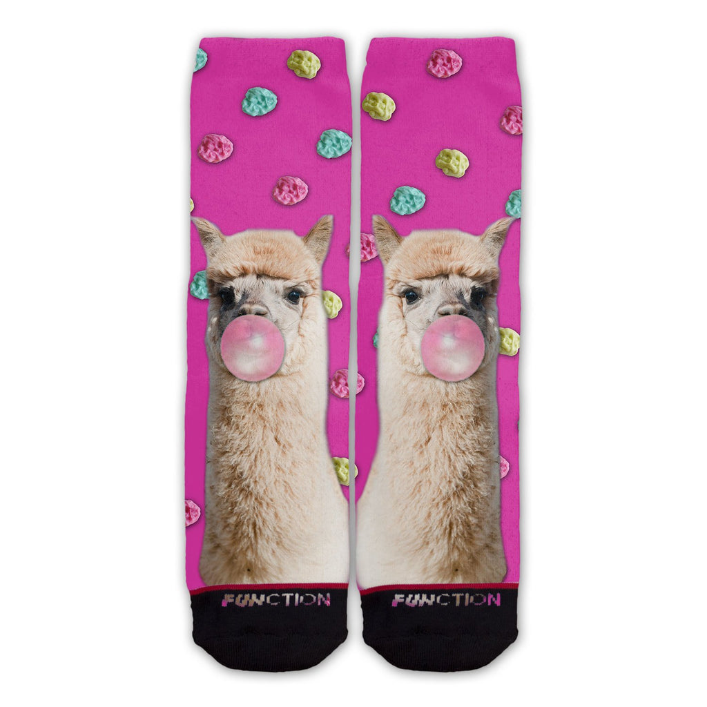 Function - Llama Bubblegum Fashion Socks