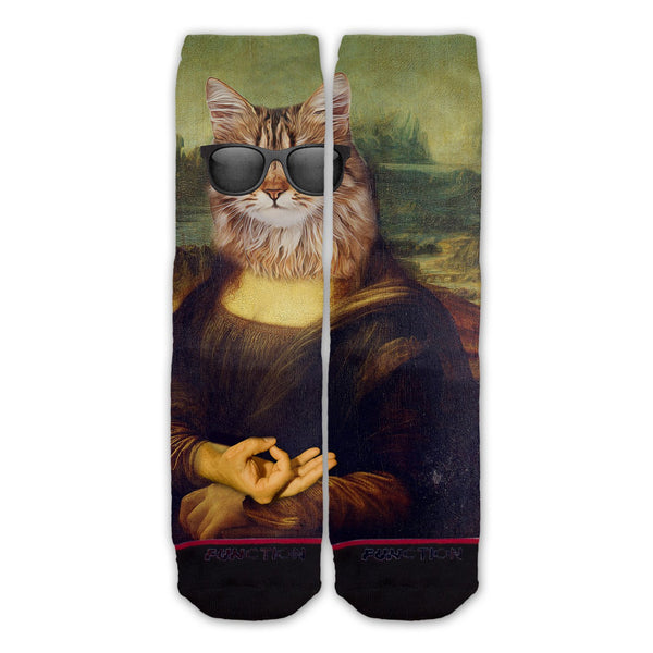 Function - Mona Lisa Cat Circle Game Fashion Socks Da Vinci Painting