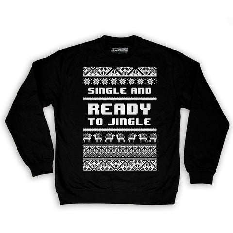 Function -  Single And Ready To Jingle Ugly Christmas Men's Fashion Crew Neck Sweatshirt