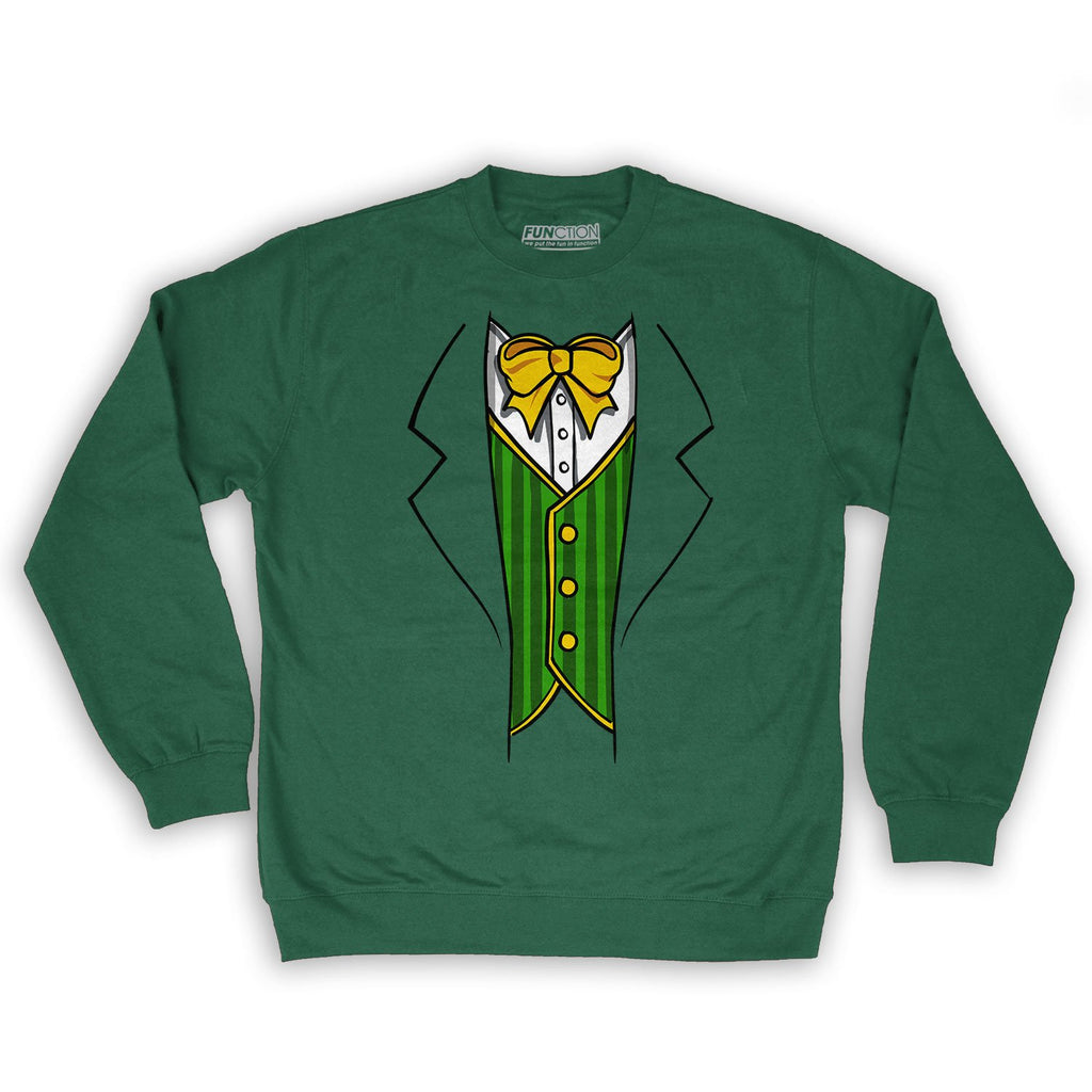 Function -  St.Patrick's Day Leprechaun Costume Men's Fashion Crew Neck Sweatshirt Dark Green