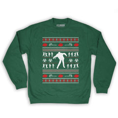 Zombie Christmas Sweater.Function Zombie Ugly Christmas Sweater Men S Fashion Crew