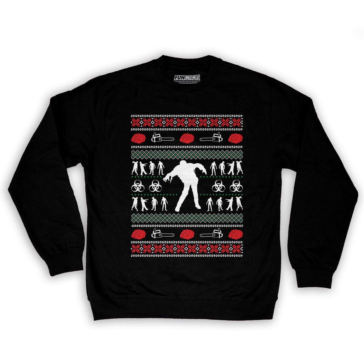 Function - Zombie Ugly Christmas Sweater Men\'s Fashion Crew Neck ...