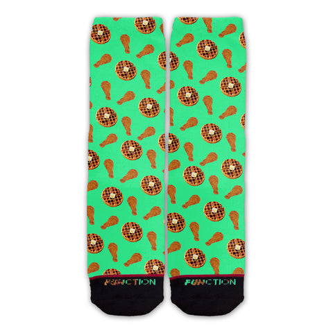 Function - Chicken And Waffles Pattern Fashion Socks