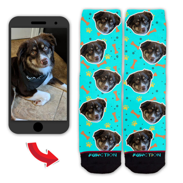 Function - Custom Dog Face Pattern Fashion Socks