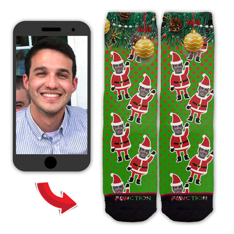 Function - Custom Face Christmas Santa Pattern Fashion Socks