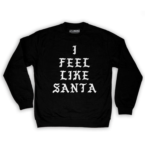 Function -  I Feel Like Santa Men's Fashion Crew Neck Sweatshirt Black