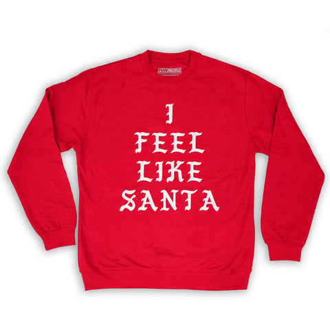 Function -  I Feel Like Santa Men's Fashion Crew Neck Sweatshirt Red