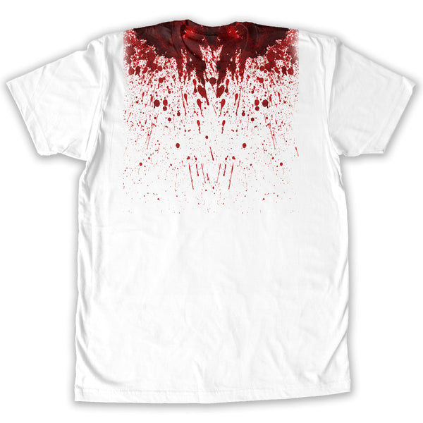 Function -  Blood Splatter Halloween Costume Men's Fashion T-Shirt White