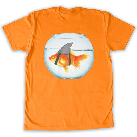Function -  Goldfish Shark Men's Fashion T-Shirt Orange
