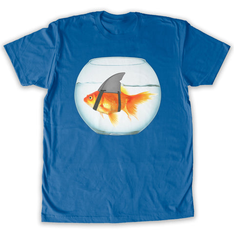 Function -  Goldfish Shark Men's Fashion T-Shirt Royal Blue