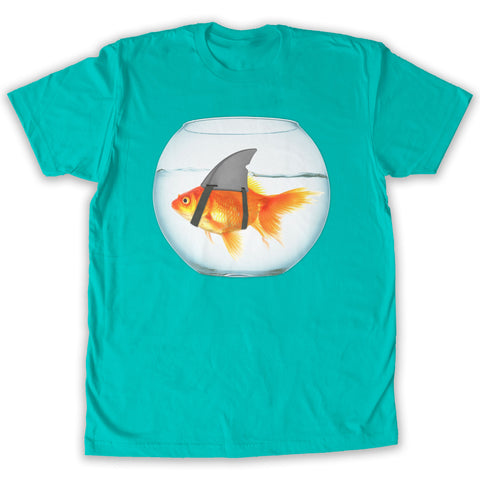 Function -  Goldfish Shark Men's Fashion T-Shirt Teal