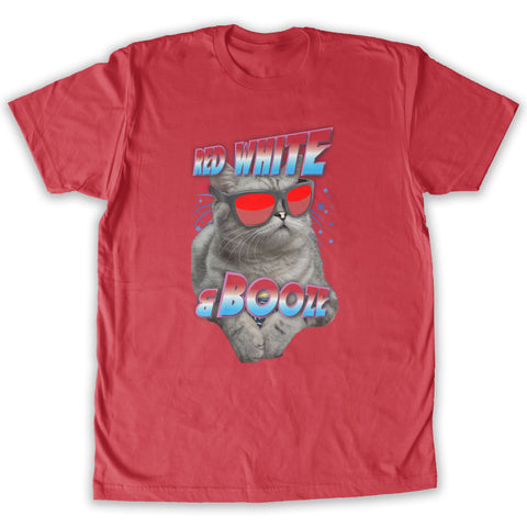 Function - Red White and Booze Cat Men's Fashion T-Shirt