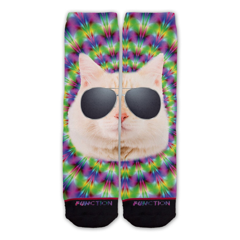 Function - Trippy Cat Fashion Sock