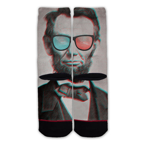 Function - Abe Lincoln 3d Glasses Fashion Socks