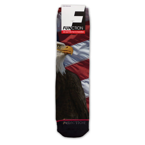 Function - American Eagle With Flag Fashion Socks