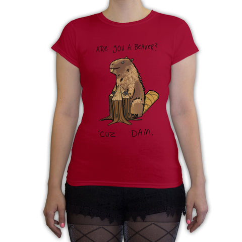 Function - Are You A Beaver Women's Fashion T-Shirt Red