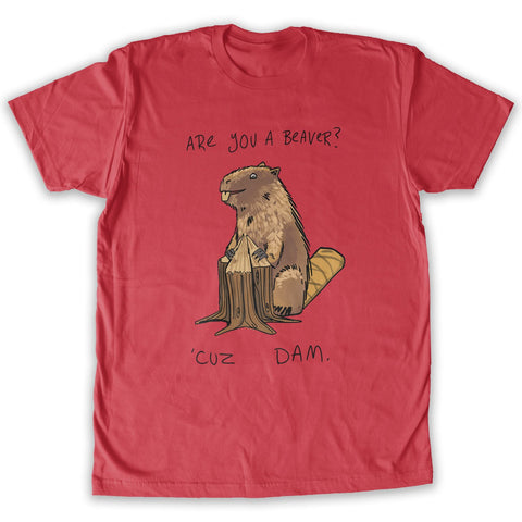 Function - Are You A Beaver Men's Fashion T-Shirt Red