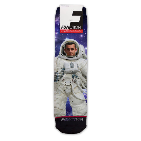 Custom Astronaut In Space Fashion Sock