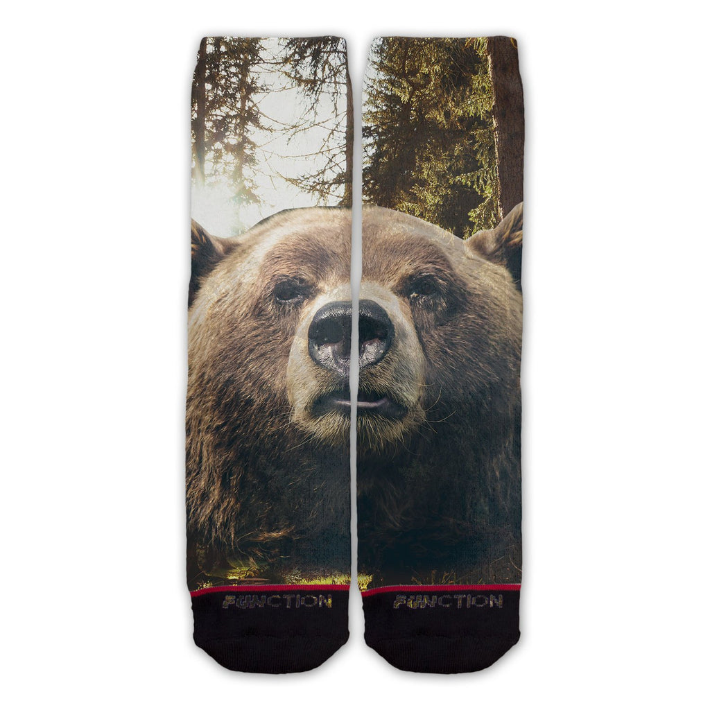 Function - Brown Bear Face Fashion Sock