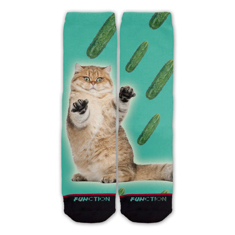 Cat Cucumber Fashion Socks