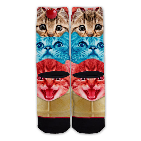 Function - Cat Ice Cream Cone Fashion Sock