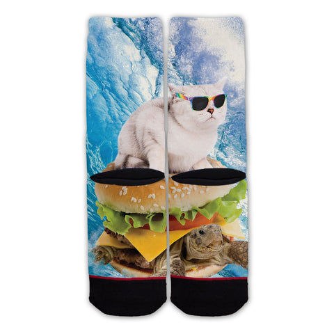 Function - Cat Surfing Burger Turtle Fashion Socks