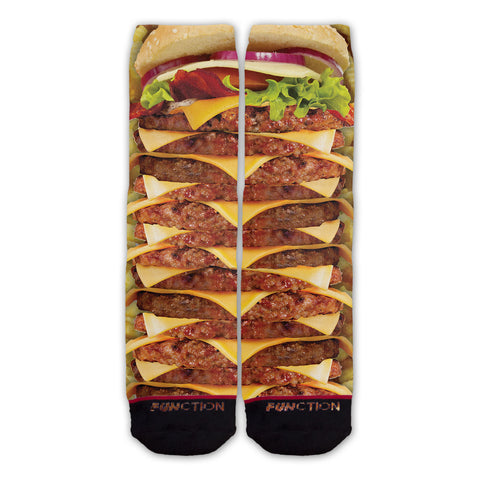 Function - Stacked Cheeseburger And Fries Fashion Sock