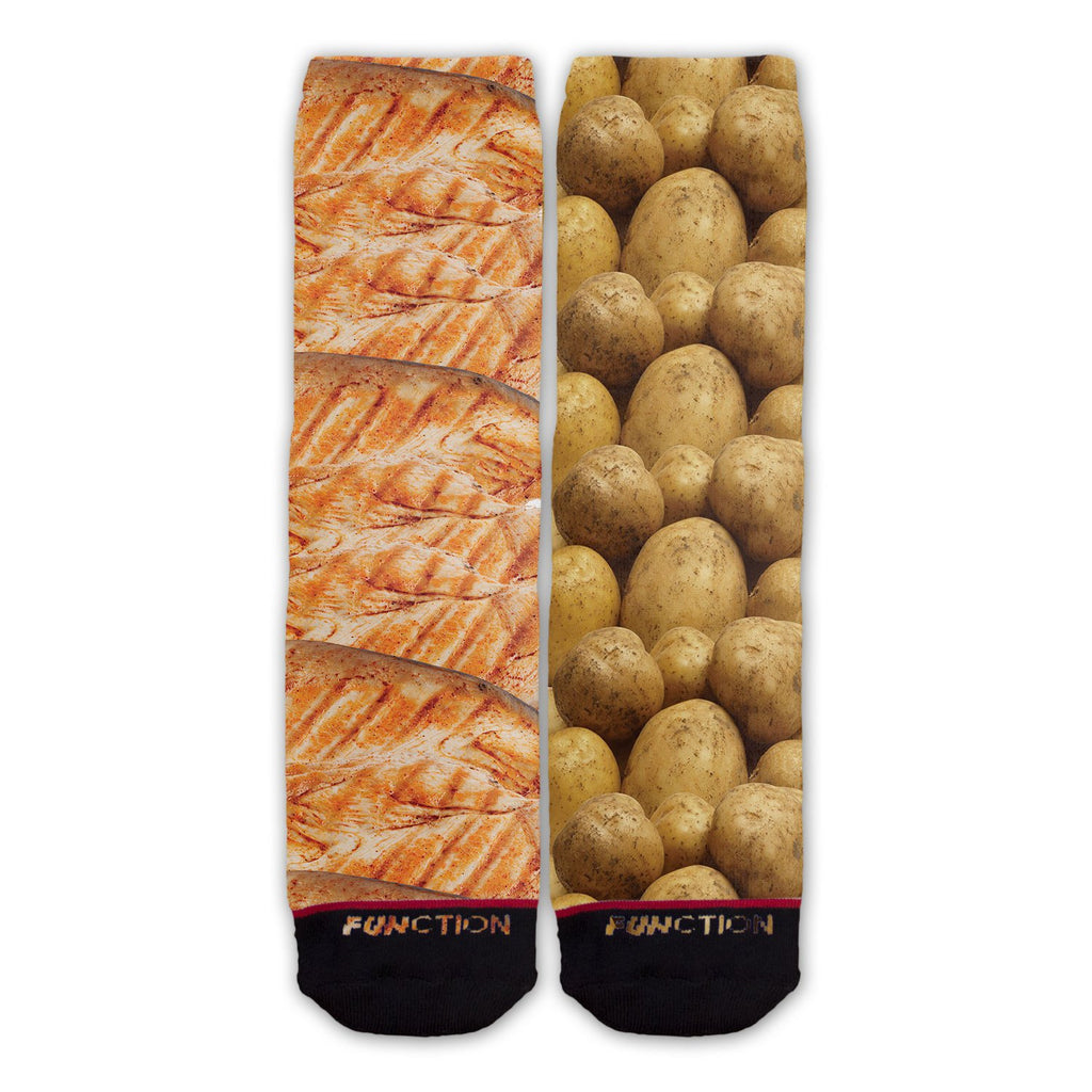 Chicken and Potatoes Fashion Socks