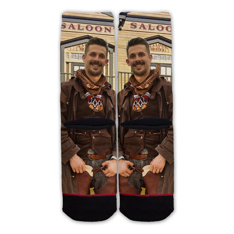 Custom Wild West Cowboy Fashion Sock