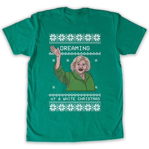 Function - Dreaming of a White Christmas Men's Fashion T-Shirt Kelly Green