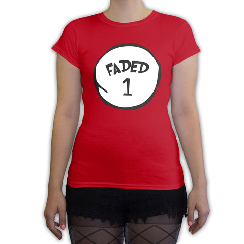 Function -  Faded 1 Halloween Costume Women's Fashion T-Shirt Red