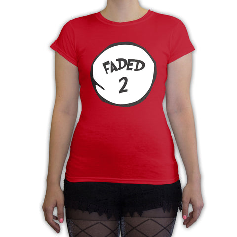 Function -  Faded 3 Halloween Costume Women's Fashion T-Shirt Red