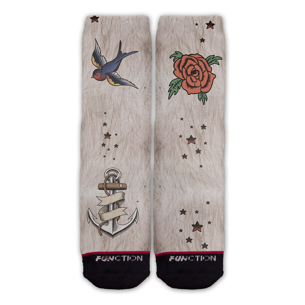 Function - Fake Traditional Tattoos Costume Socks