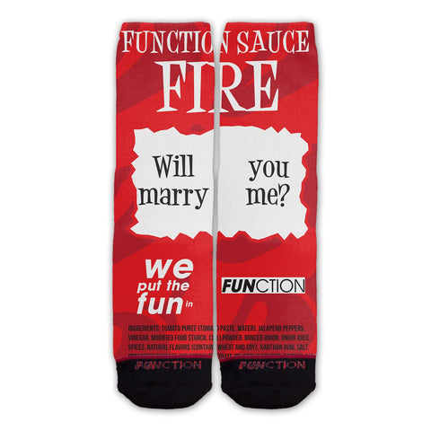 Fire Sauce Will You Marry Me Fashion Socks